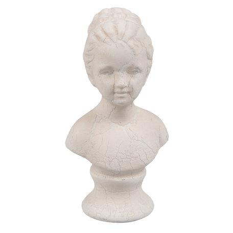 Decoratie buste 5*3*9 cm Wit | 6PR2165 | Clayre & Eef