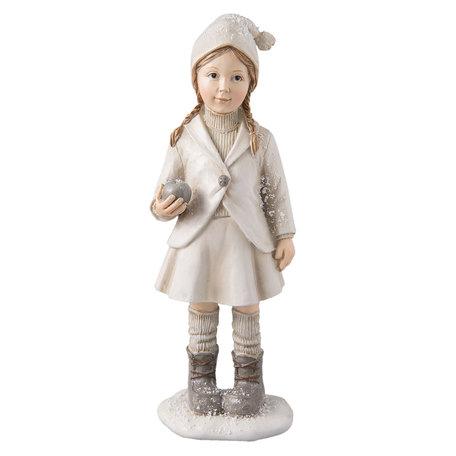 Decoratie beeldje van kind 8*6*22 cm Wit | 6PR2271 | Clayre & Eef