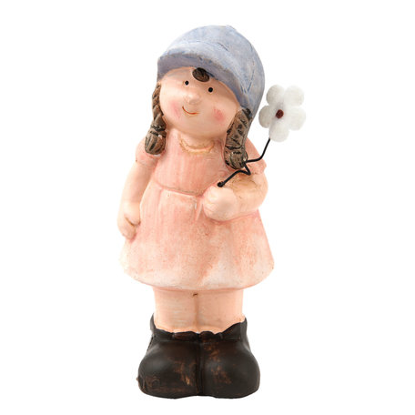 Decoratie meisje 5*5*12 cm Roze | 6TE0115 | Clayre & Eef