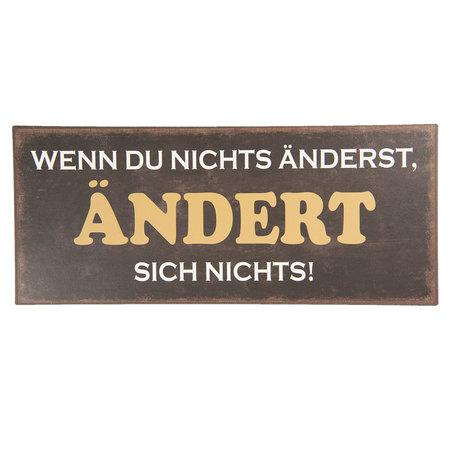 Tekstbord 30*13 cm Zwart | 6Y3626D | Clayre & Eef