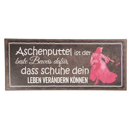 Tekstbord 30*13 cm Zwart | 6Y3633DZ | Clayre & Eef