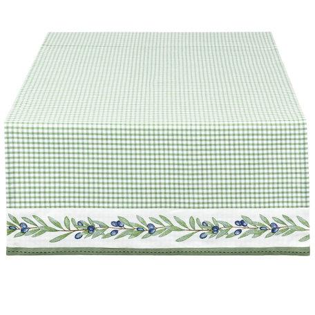 Tafelloper 50*140 cm Groen | OLG64GR | Clayre & Eef