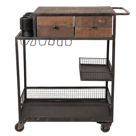 Keukentrolley 74*44*95 cm Bruin | 5CCH0406 | Clayre & Eef