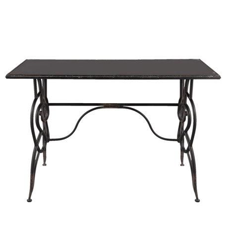 Tafel 123*61*80 cm Zwart | 5Y0379 | Clayre & Eef