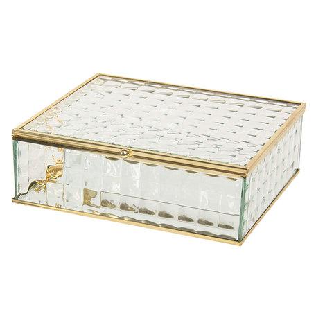 Juwelendoosje 20*16*6 cm Transparant | CC6GL0018L | Clayre & Eef