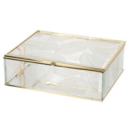 Juwelendoosje 20*16*6 cm Transparant | CC6GL0020L | Clayre & Eef