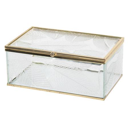 Juwelendoosje 17*10*7 cm Transparant | CC6GL0020M | Clayre & Eef