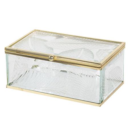 Juwelendoosje 14*8*6 cm Transparant | CC6GL0020S | Clayre & Eef