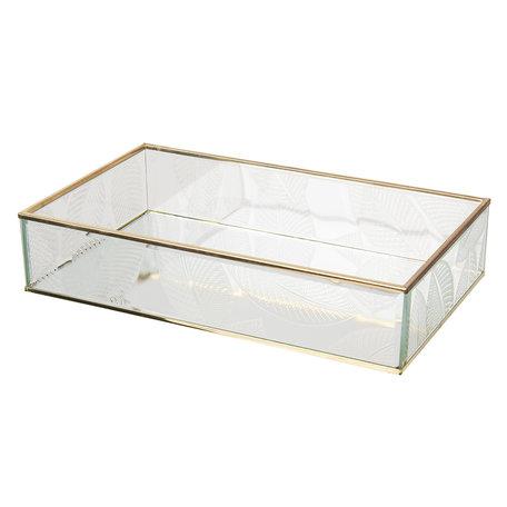 Juwelendoosje 29*17*6 cm Transparant | CC6GL0023 | Clayre & Eef