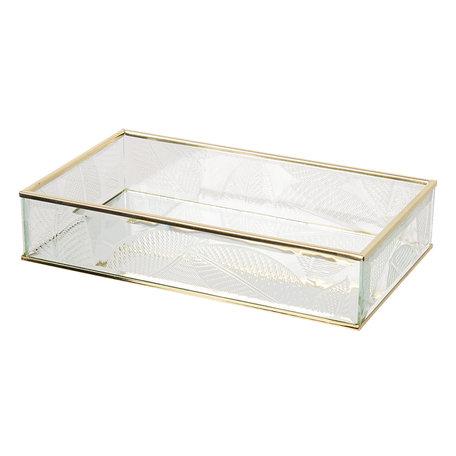 Juwelendoosje 24*14*5 cm Transparant | CC6GL0024 | Clayre & Eef