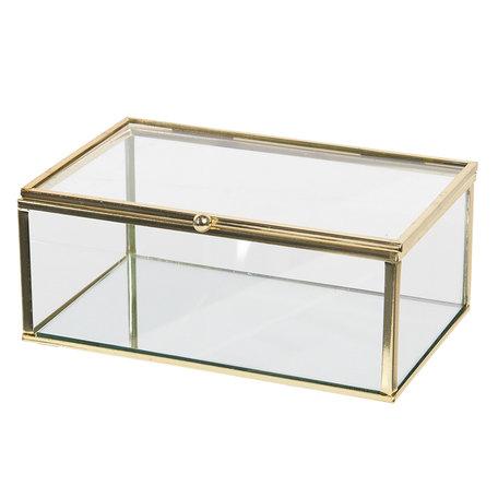 Juwelendoosje 17*10*7 cm Transparant | CC6GL0028 | Clayre & Eef