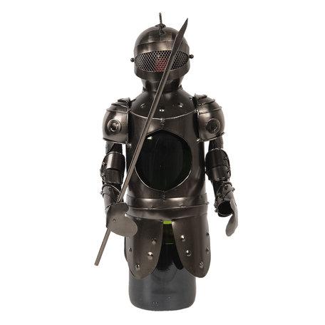 Flessenhouder ridder 10*10*22 cm Grijs | CC6Y0023 | Clayre & Eef