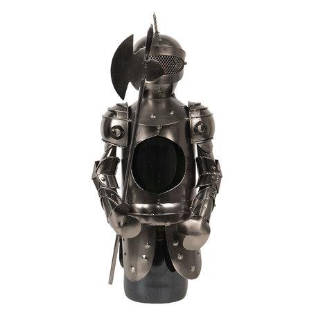 Flessenhouder ridder 8*10*27 cm Grijs | CC6Y0024 | Clayre & Eef