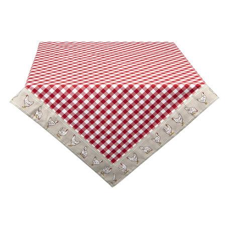 Tafelkleed 100*100 cm Rood | LCH01R | Clayre & Eef