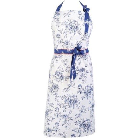Keukenschort blauw roos  | MMRG41 | Clayre & Eef