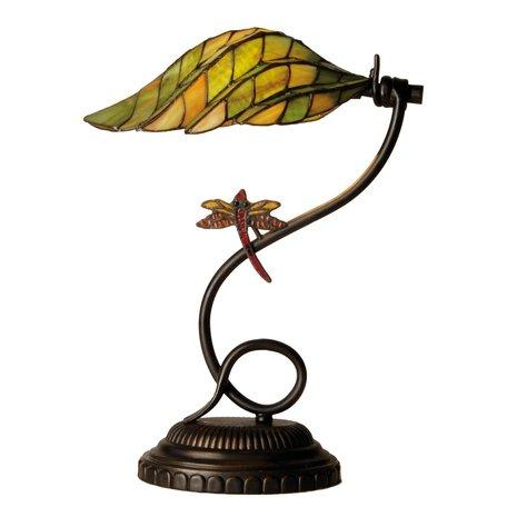 Bureaulamp Tiffany ø 34*45 cm E14/max 1*60W Multi | 5LL-5507 | Clayre & Eef