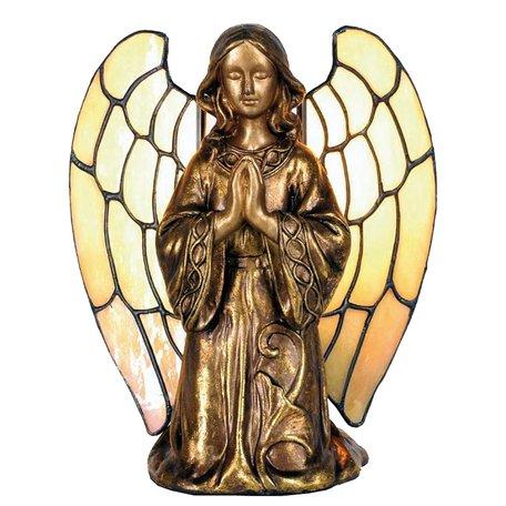 Tafellamp Tiffany 16*10*18 cm E14/max 1*40W Meerkleurig | 5LL-9246 | Clayre & Eef
