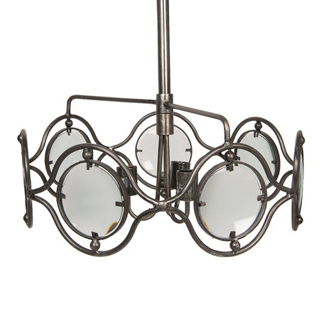 Hanglamp ø 60*27 cm E27/max 3*40W Grijs | 5LMP273 | Clayre & Eef