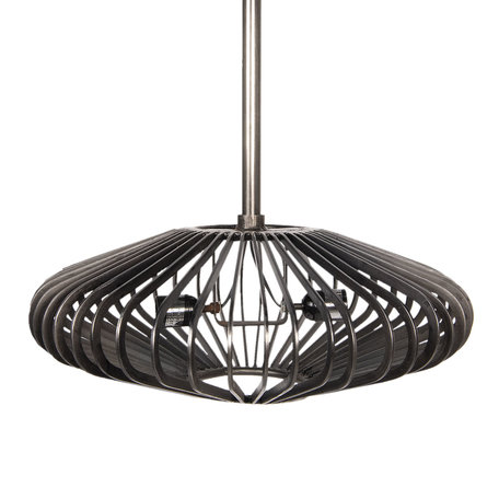 Hanglamp ø 54*23 cm E24/max 2*40W Grijs | 5LMP275 | Clayre & Eef