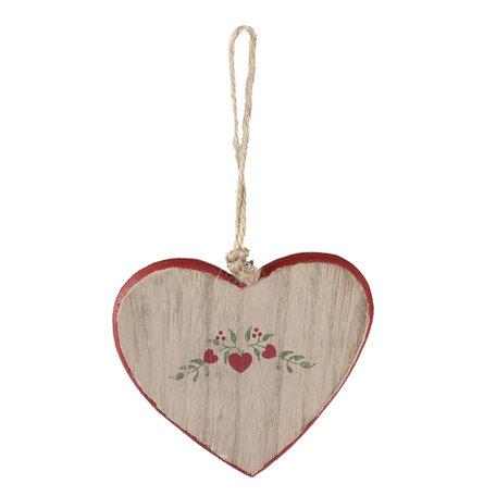 2 STUKS Decoratie hanger hart 9*1*8 cm Meerkleurig | 6H1632S | Clayre & Eef