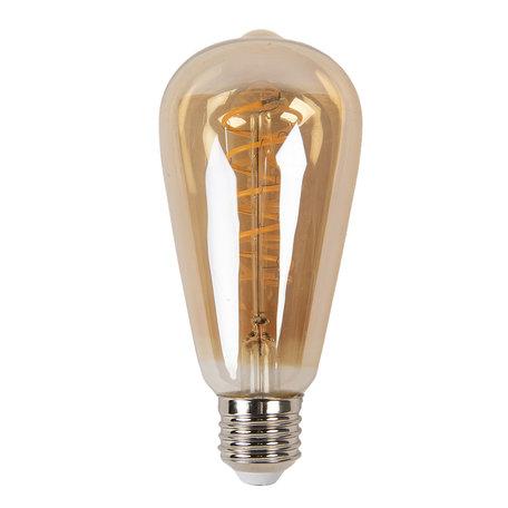 Gloeilamp LED ø 6*14 cm E27/3W Bruin | LP099 | Clayre & Eef