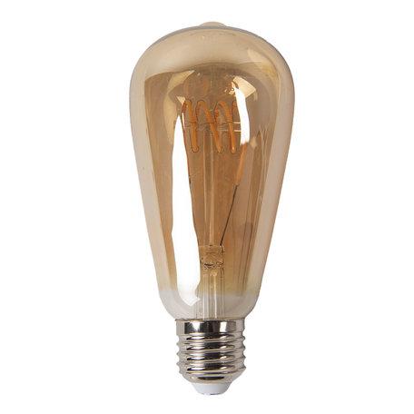 Gloeilamp LED ø 6*14 cm E27/3W Bruin | LP100 | Clayre & Eef