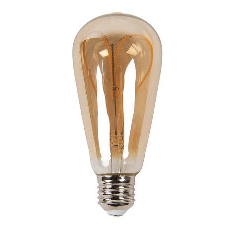 Gloeilamp LED ø 6*14 cm E27/3W Bruin | LP101 | Clayre & Eef