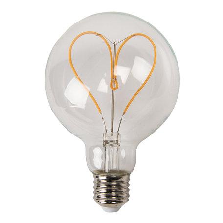 Gloeilamp LED ø 9*14 cm E27/3W Transparant | LP102 | Clayre & Eef