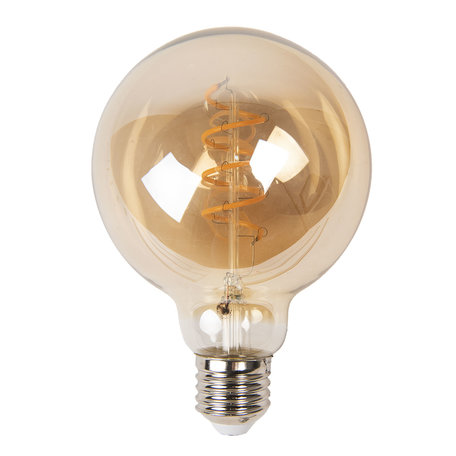 Gloeilamp LED ø 9*14 cm E27/3W Transparant | LP103 | Clayre & Eef