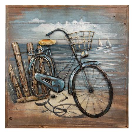 Wanddecoratie fiets 60*60*5 cm Meerkleurig | 5WA0135 | Clayre & Eef