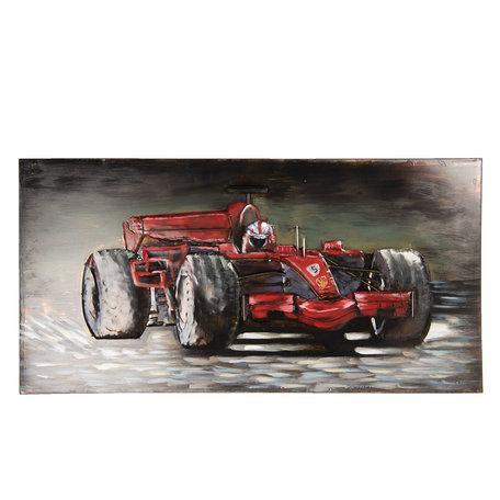 Wanddecoratie F1 raceauto 120*5*60 cm Rood | 5WA0152 | Clayre & Eef