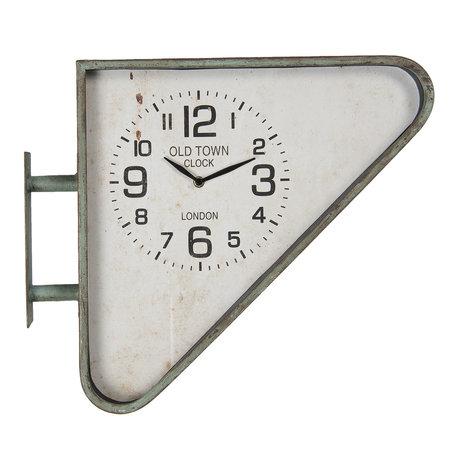 Wandklok 47*12*41 cm / 1*AA Groen | 6KL0631 | Clayre & Eef