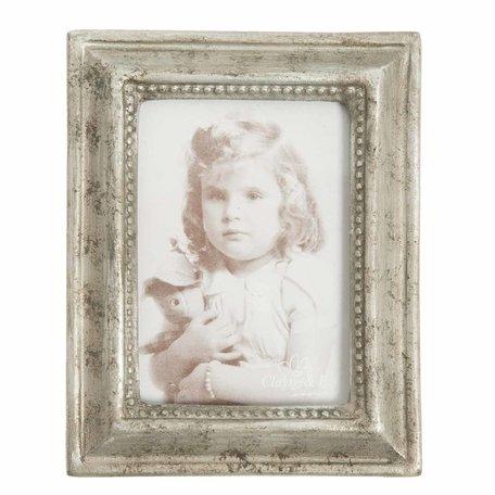 Fotolijst 10*2*12 cm / 6*9 cm Zilverkleurig | 2121 | Clayre & Eef