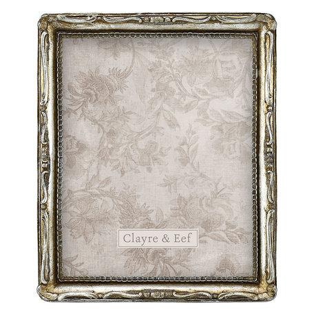 Fotolijst 24*3*29 cm / 20*25 cm Zilverkleurig | 2F0670 | Clayre & Eef