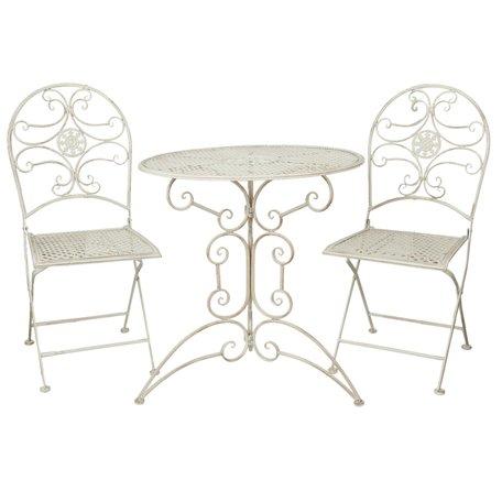 Tafel + 2 stoelen ø 70*74 / 40*45*95 cm (2) Wit | 5Y0179 | Clayre & Eef