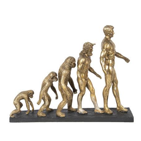 Decoratie evolutie mens 58*18*42 cm Goudkleurig | 6PR2826 | Clayre & Eef