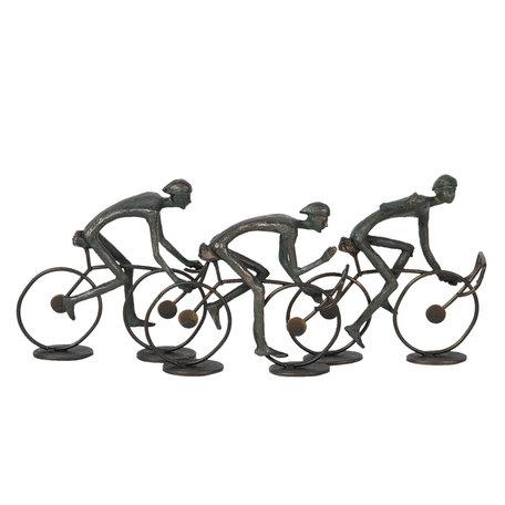 Decoratie wielrenners 34*8*15 cm Grijs | 6PR2827 | Clayre & Eef
