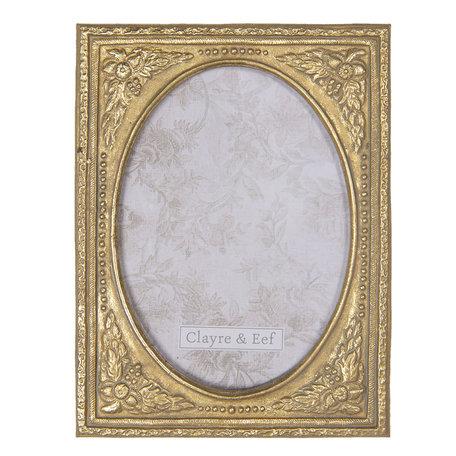 Fotolijst 16*1*22 cm / 13*18 cm Goudkleurig | 2F0664 | Clayre & Eef