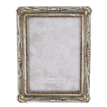 Fotolijst 17*3*22 cm / 13*18 cm Zilverkleurig | 2F0669 | Clayre & Eef