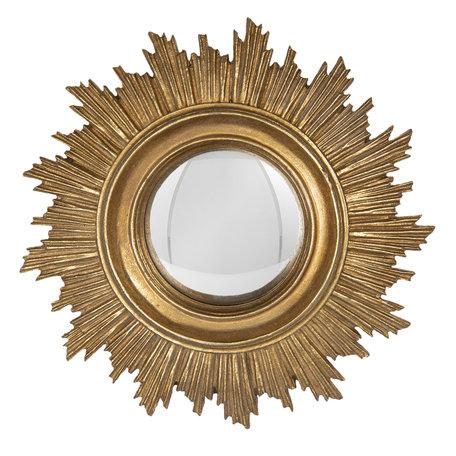 Spiegel ø 18*2 cm Goudkleurig   62S175   Clayre & Eef