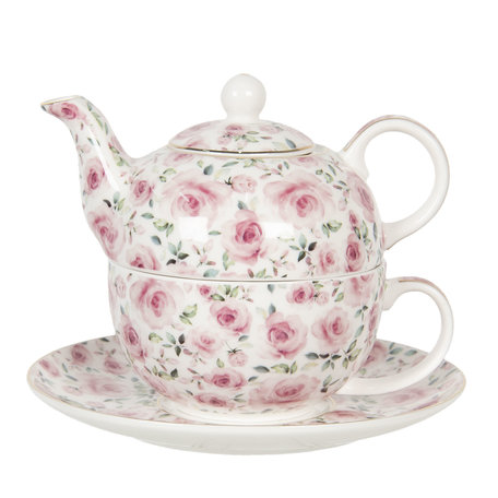 Tea for one set 16*11*14 cm 0.4L / 0.25L Multi | 6CE1128 | Clayre & Eef