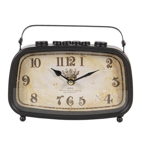 Tafelklok 20*5*15 cm / 1*AA Bruin | 6KL0634 | Clayre & Eef