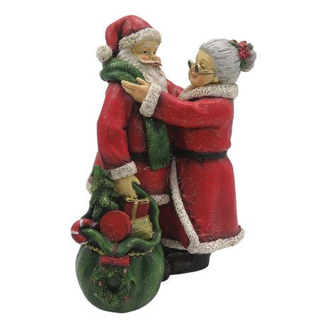 Decoratie Kerst 10*10*16 cm Meerkleurig | 6PR2780 | Clayre & Eef