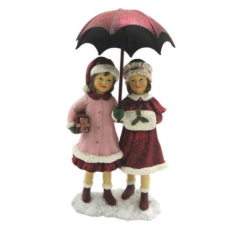 Decoratie kinderen met paraplu 11*6*16 cm Meerkleurig | 6PR2785 | Clayre & Eef