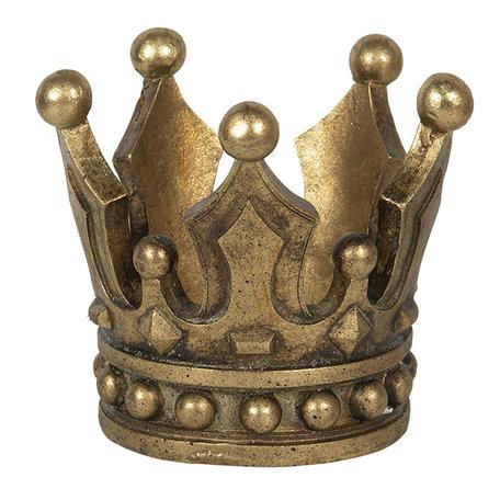 Decoratie kroon ø 14*12 cm Goudkleurig | 6PR2837 | Clayre & Eef