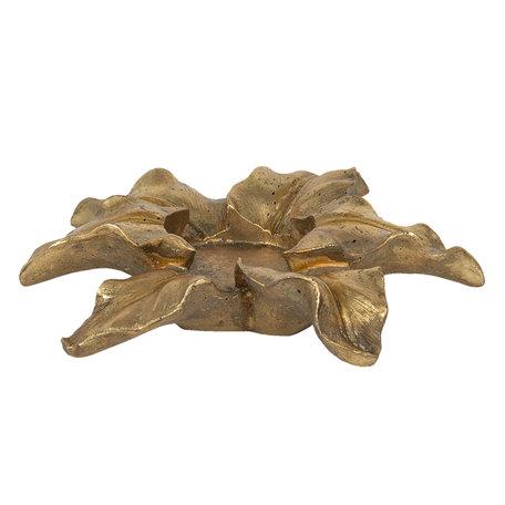 Decoratie waxinelichthouder ø 22*6 cm Goudkleurig | 6PR2839 | Clayre & Eef