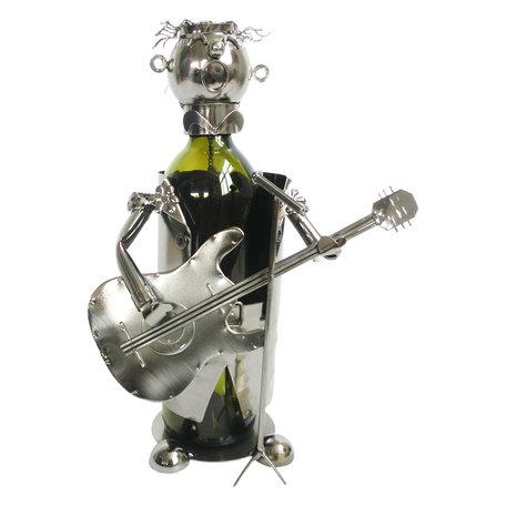 Flessenhouder gitarist 18*15*21 cm Zilverkleurig | 6Y3778 | Clayre & Eef