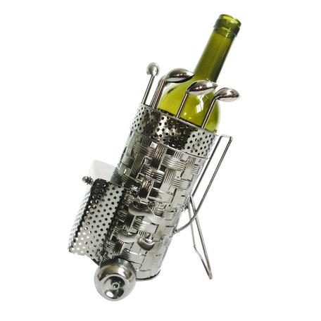 Flessenhouder golftas 20*13*24 cm Zilverkleurig | 6Y3781 | Clayre & Eef