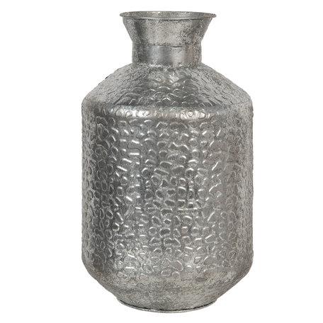 Vaas ø 26*46 cm Zilverkleurig   6Y3870   Clayre & Eef
