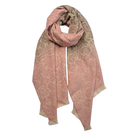 Sjaal 65*180 cm Roze | MLSC0321P | Clayre & Eef